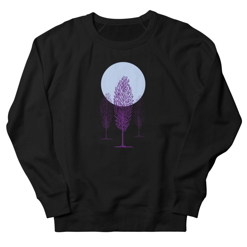 trees in the snow Women's French Terry Sweatshirt by sustici's Artist Shop