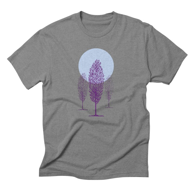 trees in the snow Men's Triblend T-Shirt by sustici's Artist Shop