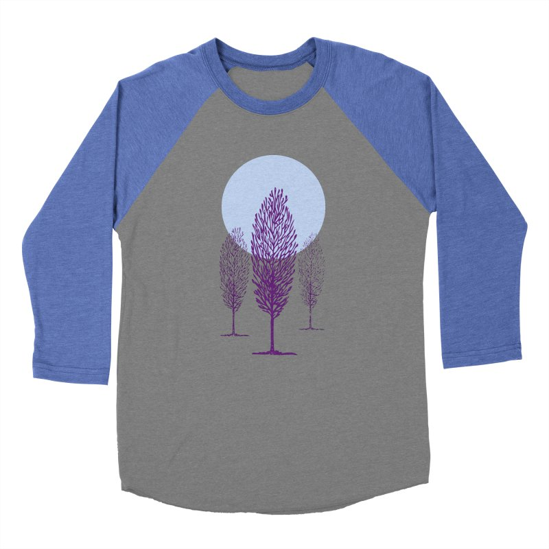 trees in the snow Women's Baseball Triblend T-Shirt by sustici's Artist Shop