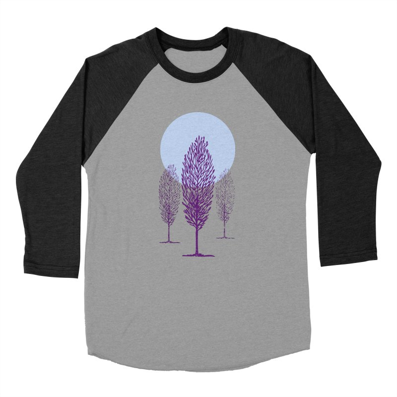 trees in the snow Men's Baseball Triblend T-Shirt by sustici's Artist Shop