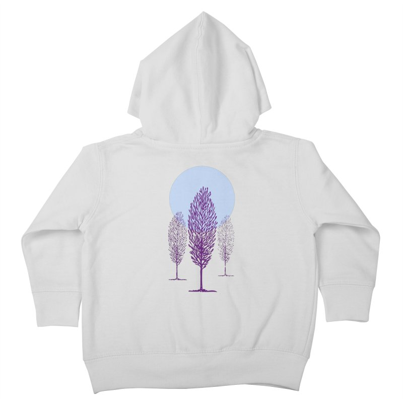 trees in the snow Kids Toddler Zip-Up Hoody by sustici's Artist Shop