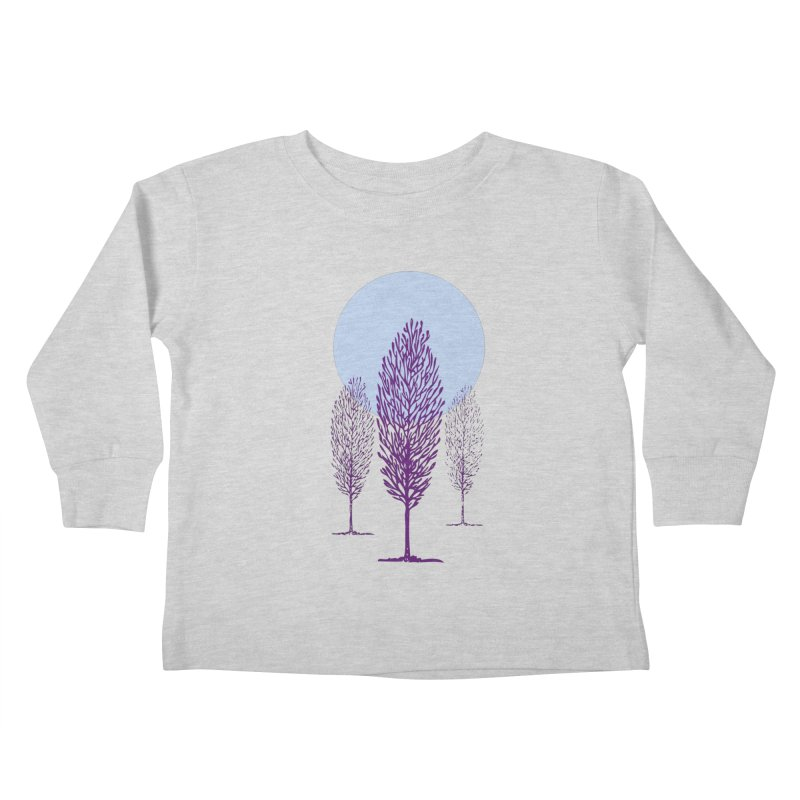 trees in the snow Kids Toddler Longsleeve T-Shirt by sustici's Artist Shop