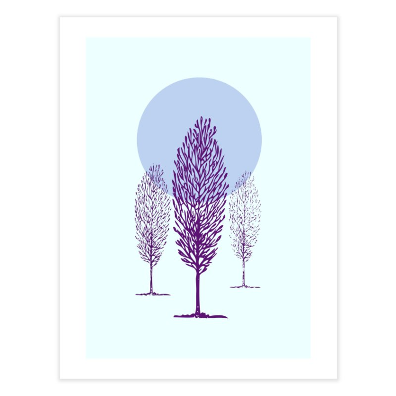 trees in the snow Home Fine Art Print by sustici's Artist Shop