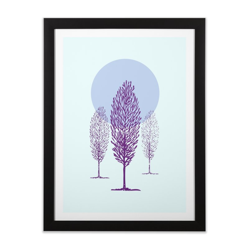 trees in the snow Home Framed Fine Art Print by sustici's Artist Shop