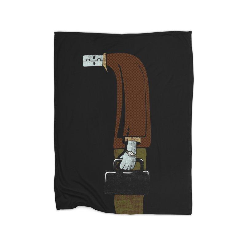usb man Home Fleece Blanket Blanket by sustici's Artist Shop