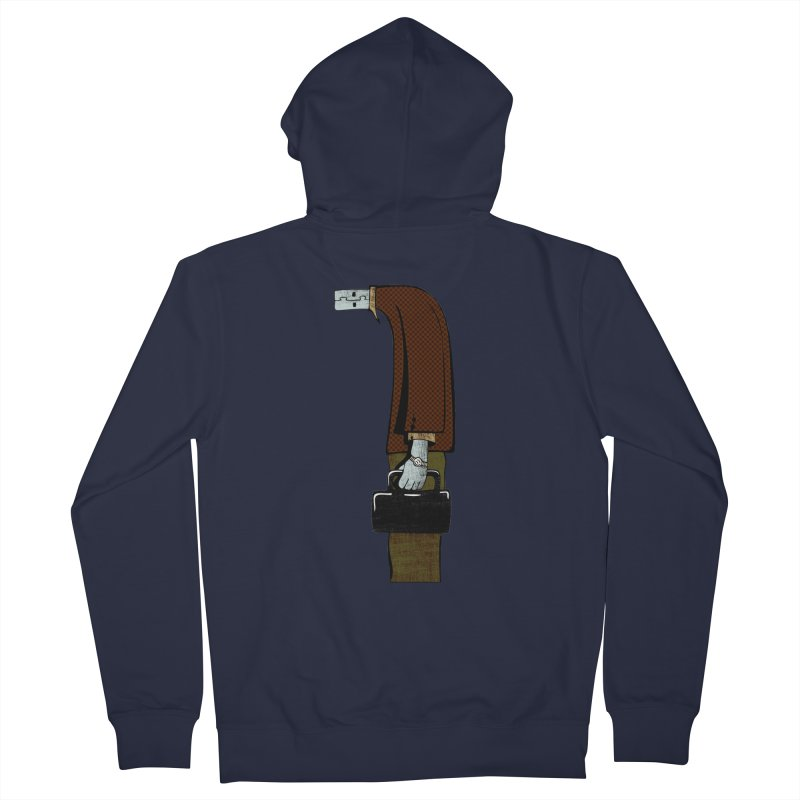 usb man Women's Zip-Up Hoody by sustici's Artist Shop