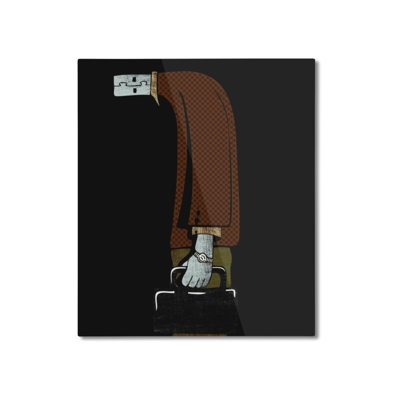 usb man Home Mounted Aluminum Print by sustici's Artist Shop