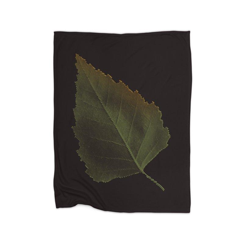 Leaf Home Fleece Blanket Blanket by sustici's Artist Shop