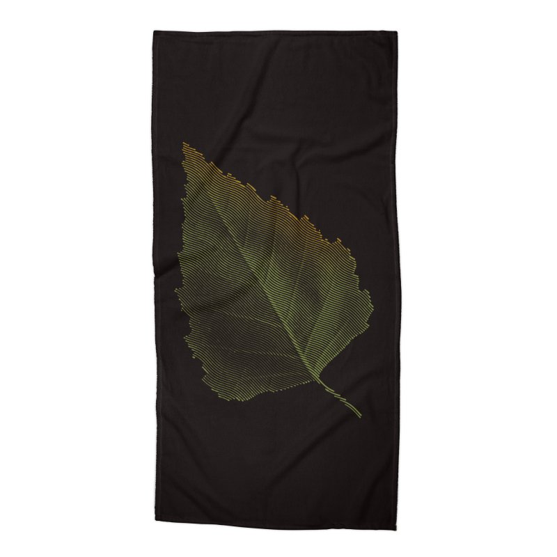 Leaf Accessories Beach Towel by sustici's Artist Shop