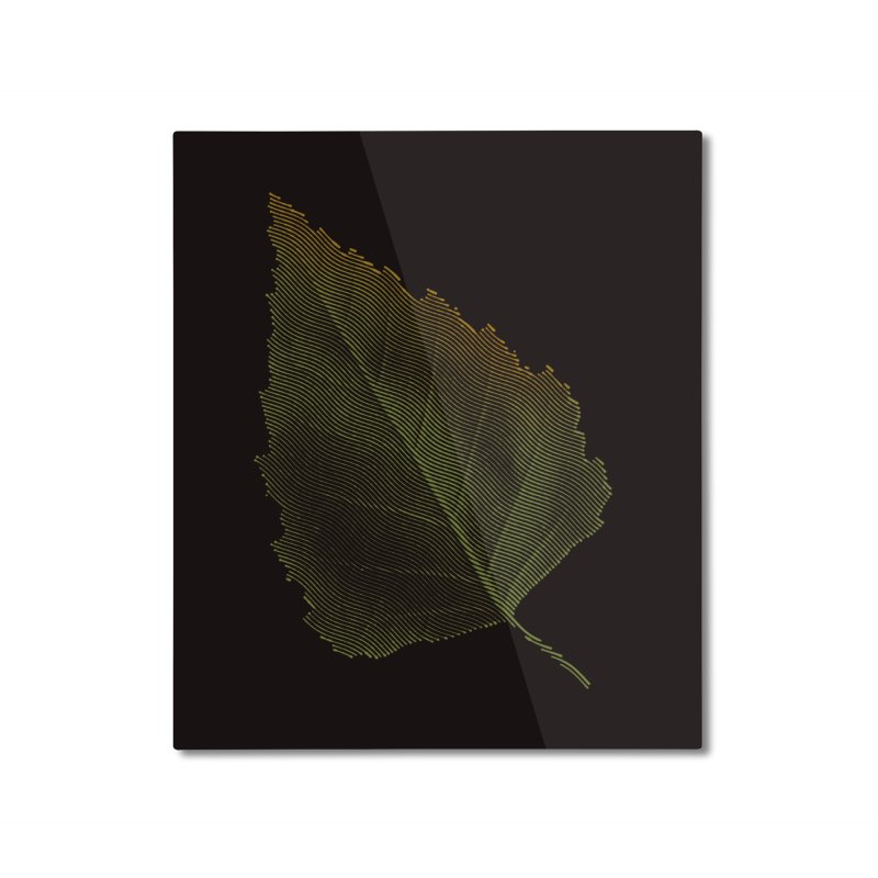 Leaf Home Mounted Aluminum Print by sustici's Artist Shop