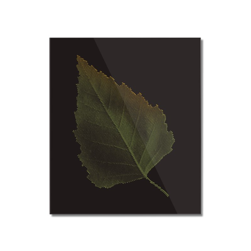 Leaf Home Mounted Acrylic Print by sustici's Artist Shop