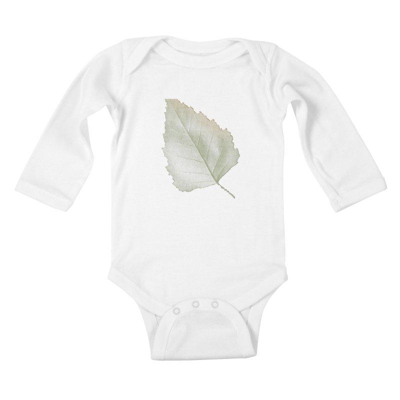 Leaf Kids Baby Longsleeve Bodysuit by sustici's Artist Shop