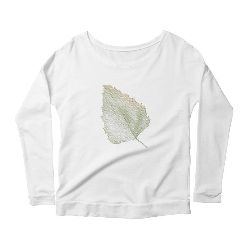 Leaf Women's Longsleeve Scoopneck  by sustici's Artist Shop