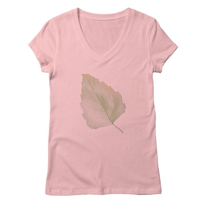 Leaf Women's V-Neck by sustici's Artist Shop