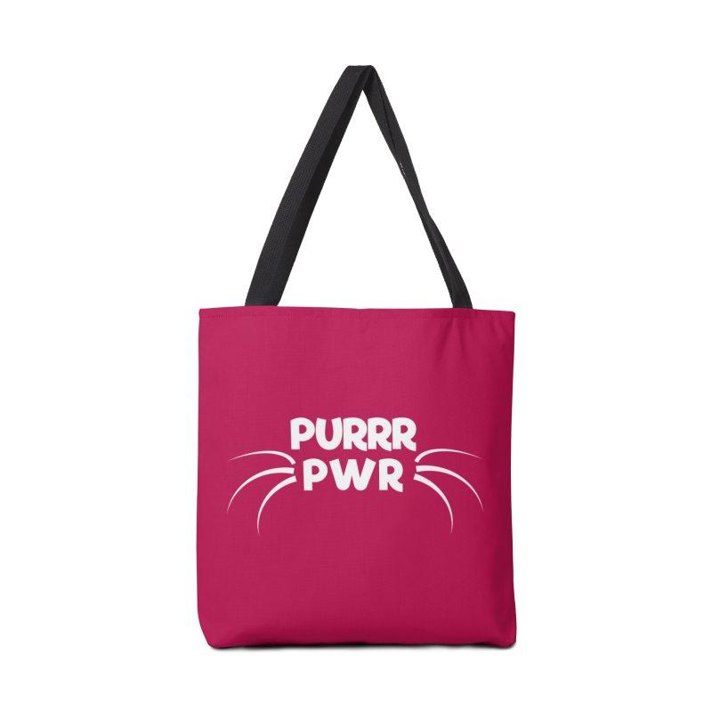 PURRR POWER Accessories Bag by sustici's Artist Shop