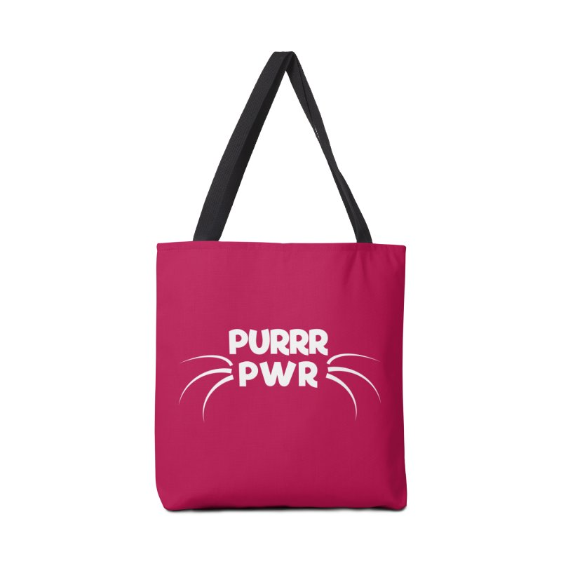 PURRR POWER Accessories Tote Bag Bag by sustici's Artist Shop