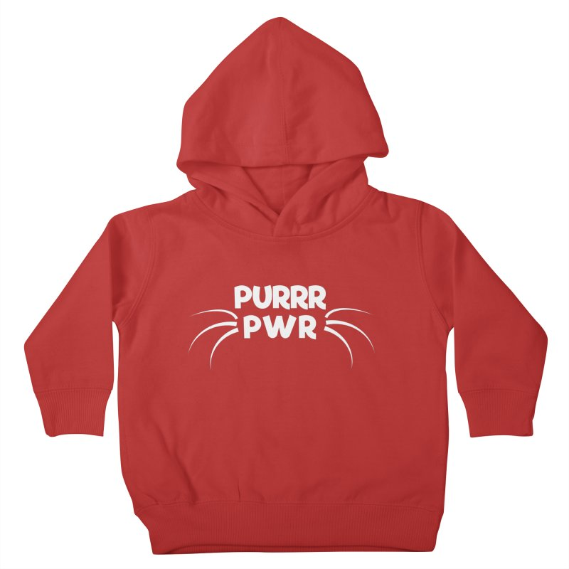 PURRR POWER Kids Toddler Pullover Hoody by sustici's Artist Shop