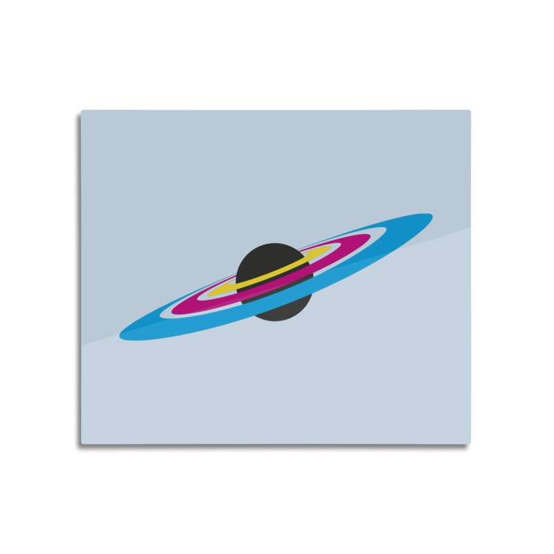 CMYK planet Home Mounted Aluminum Print by sustici's Artist Shop