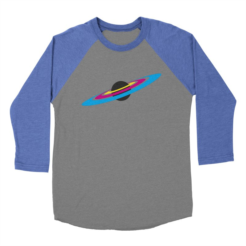 CMYK planet Men's Baseball Triblend T-Shirt by sustici's Artist Shop