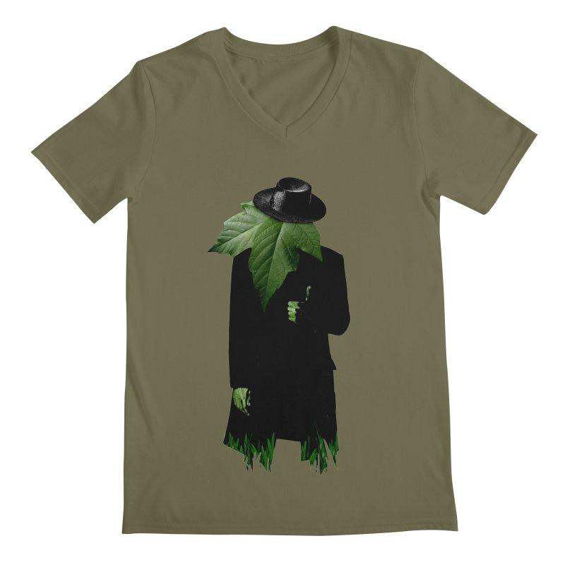 Mr. Greenthumb! Men's V-Neck by sustici's Artist Shop