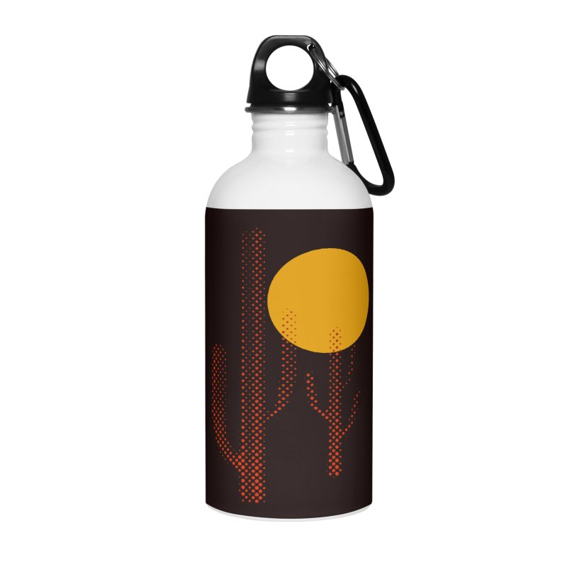 red hot chili cactus Accessories Water Bottle by sustici's Artist Shop