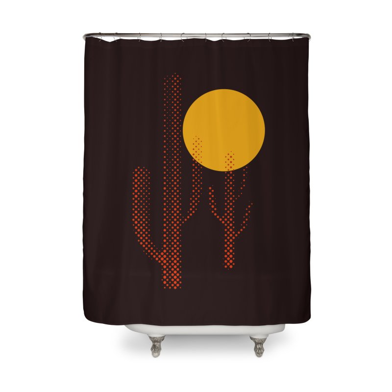 red hot chili cactus Home Shower Curtain by sustici's Artist Shop