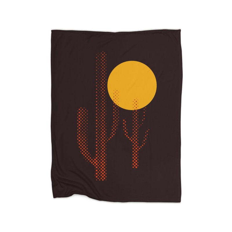red hot chili cactus Home Fleece Blanket Blanket by sustici's Artist Shop