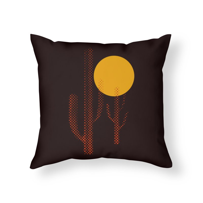 red hot chili cactus Home Throw Pillow by sustici's Artist Shop
