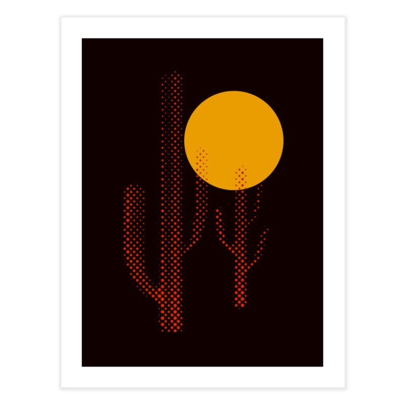 red hot chili cactus Home Fine Art Print by sustici's Artist Shop