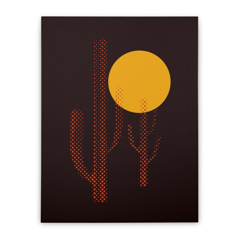 red hot chili cactus Home Stretched Canvas by sustici's Artist Shop