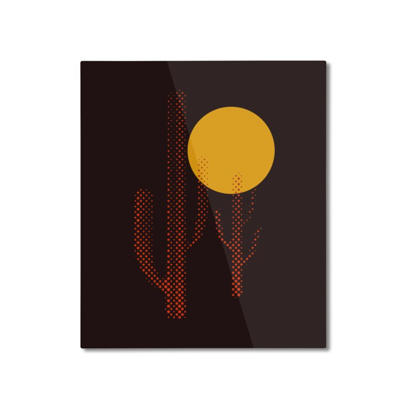 red hot chili cactus Home Mounted Aluminum Print by sustici's Artist Shop