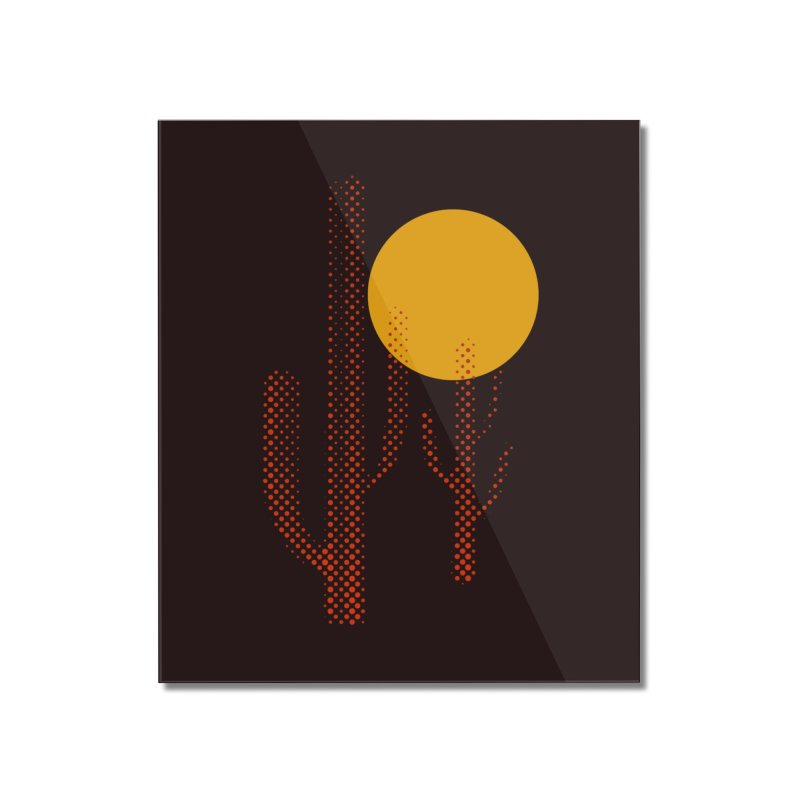 red hot chili cactus Home Mounted Acrylic Print by sustici's Artist Shop