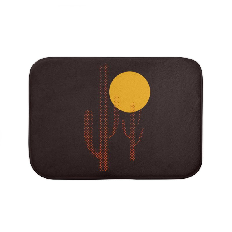 red hot chili cactus Home Bath Mat by sustici's Artist Shop