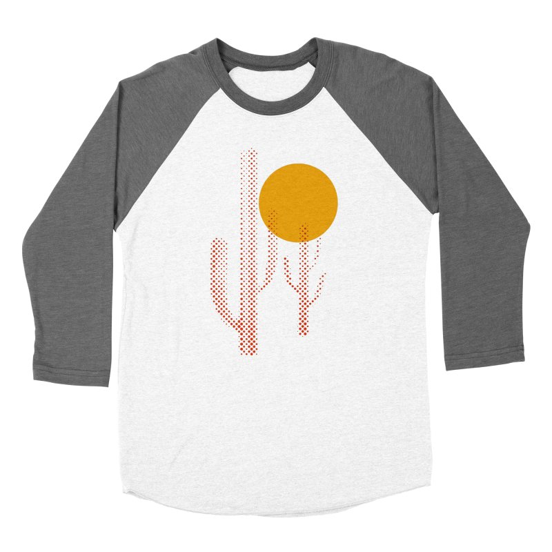 red hot chili cactus Men's Baseball Triblend T-Shirt by sustici's Artist Shop