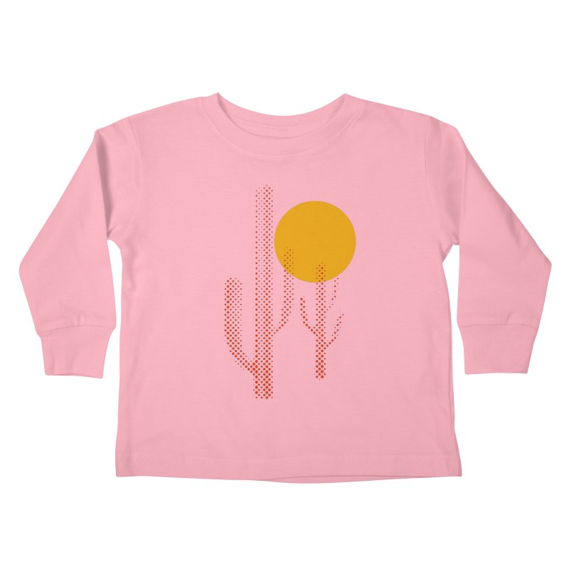 red hot chili cactus Kids Toddler Longsleeve T-Shirt by sustici's Artist Shop