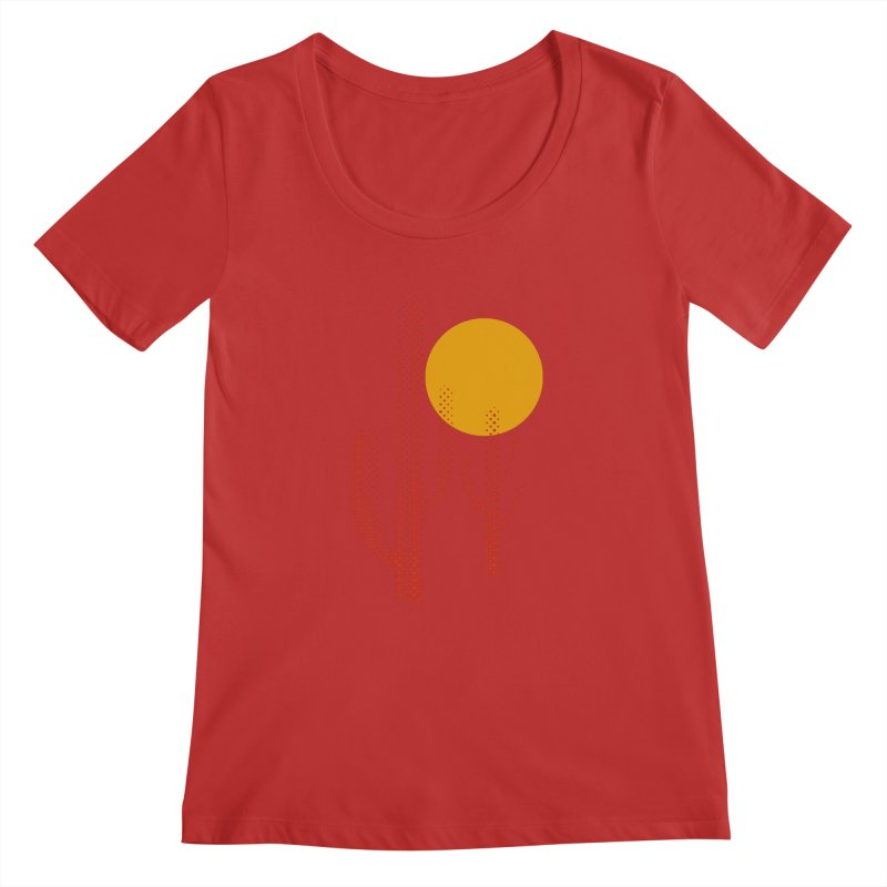 red hot chili cactus Women's Regular Scoop Neck by sustici's Artist Shop