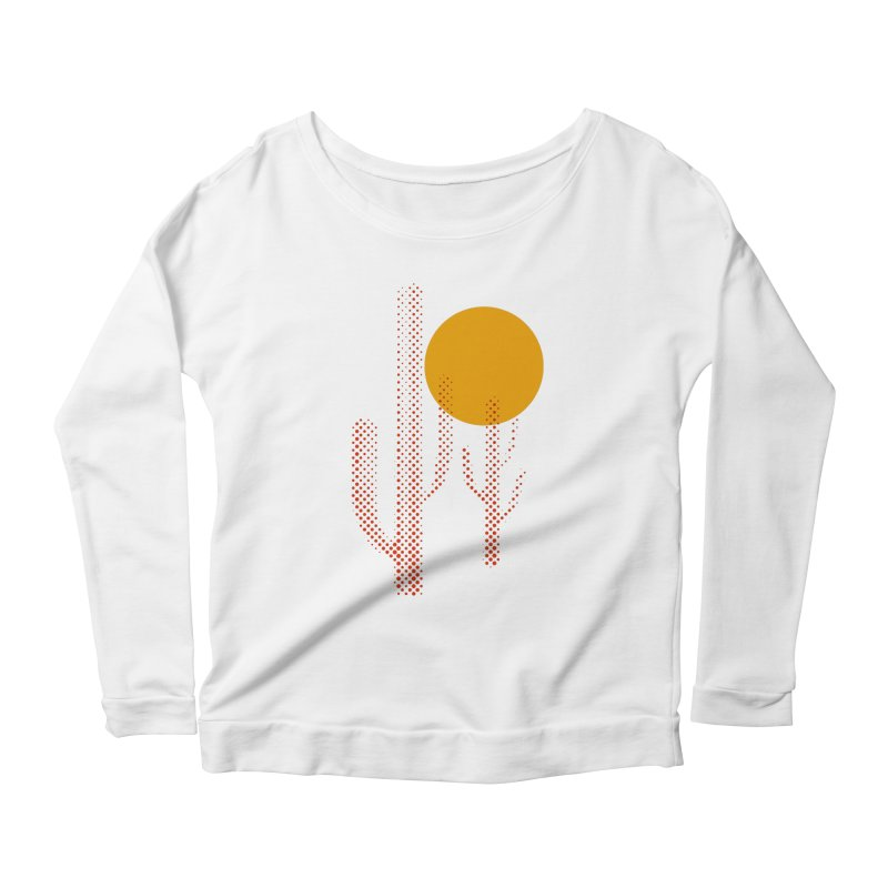 red hot chili cactus Women's Longsleeve Scoopneck  by sustici's Artist Shop