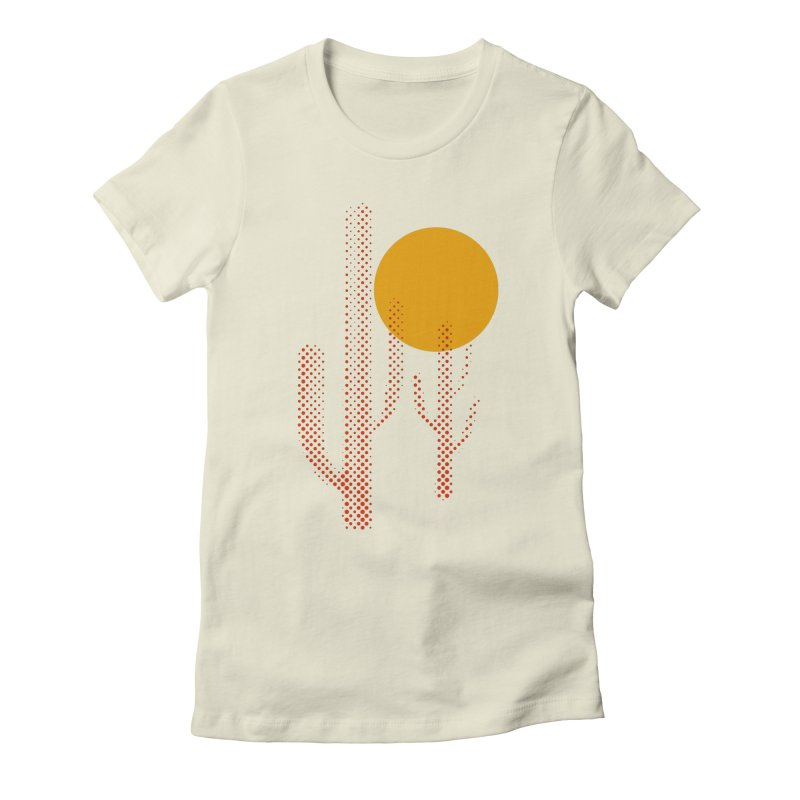 red hot chili cactus Women's Fitted T-Shirt by sustici's Artist Shop