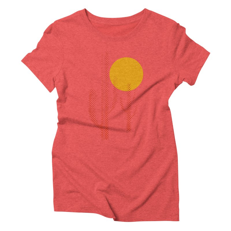 red hot chili cactus Women's Triblend T-Shirt by sustici's Artist Shop