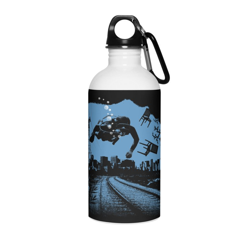 global warming paradise Accessories Water Bottle by sustici's Artist Shop