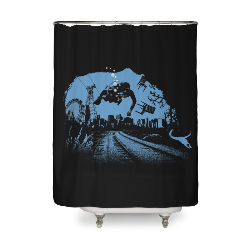 global warming paradise Home Shower Curtain by sustici's Artist Shop
