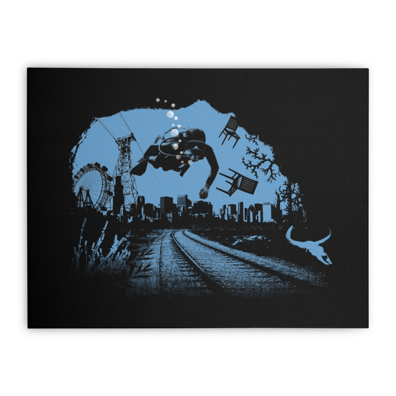 global warming paradise Home Stretched Canvas by sustici's Artist Shop
