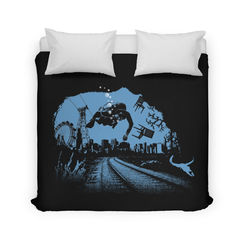 global warming paradise Home Duvet by sustici's Artist Shop