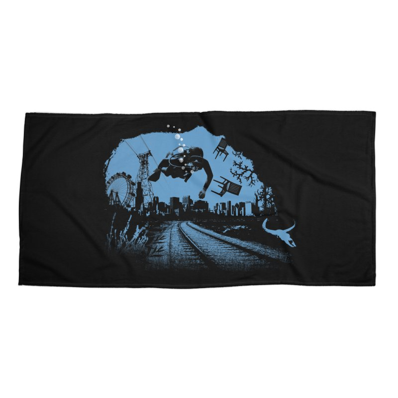 global warming paradise Accessories Beach Towel by sustici's Artist Shop