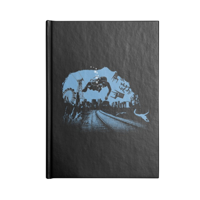 global warming paradise Accessories Notebook by sustici's Artist Shop
