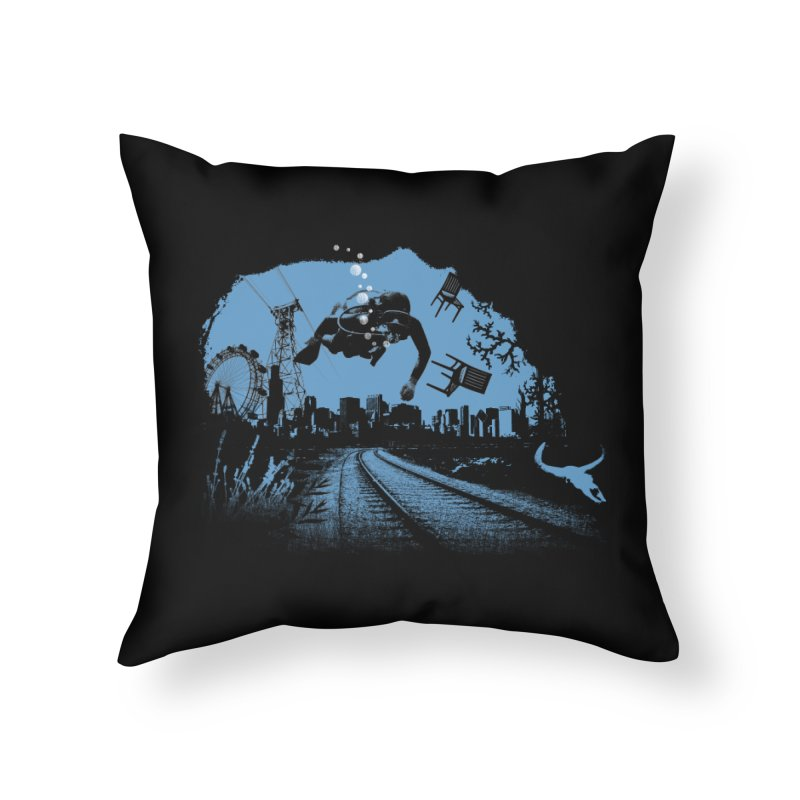 global warming paradise Home Throw Pillow by sustici's Artist Shop