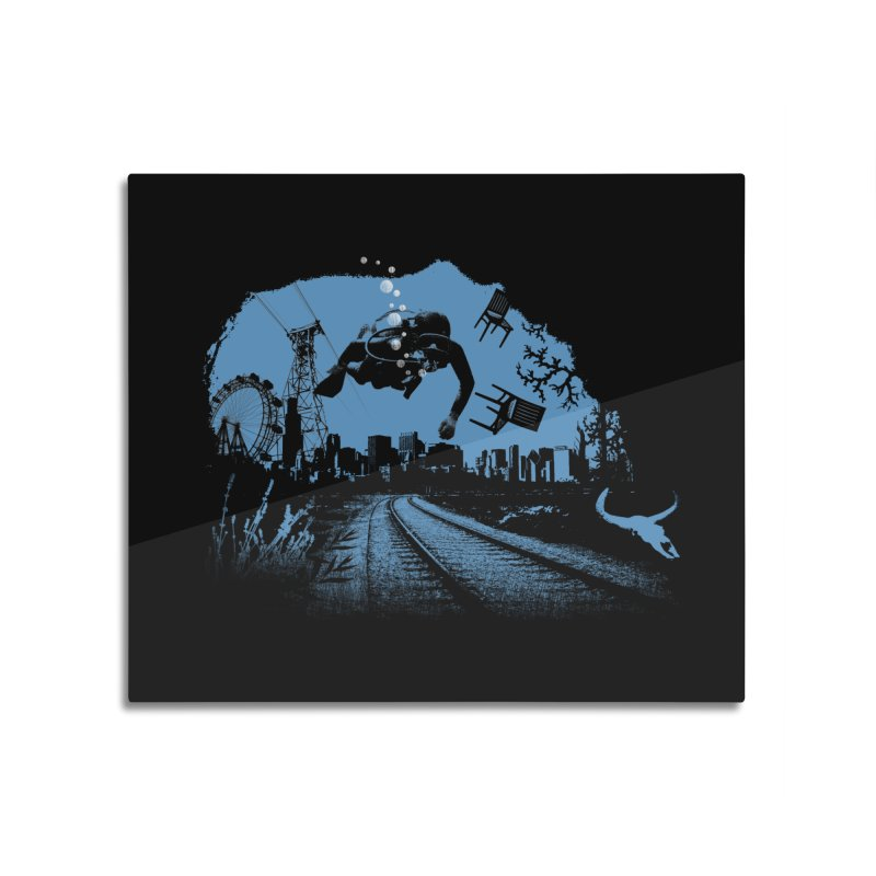 global warming paradise Home Mounted Aluminum Print by sustici's Artist Shop