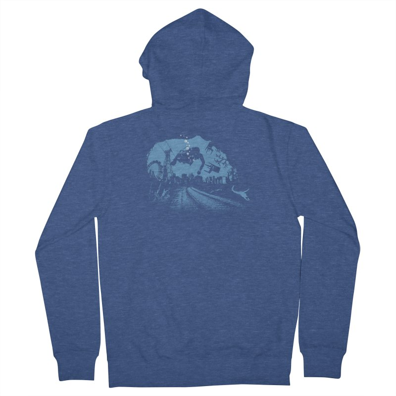 global warming paradise Men's Zip-Up Hoody by sustici's Artist Shop