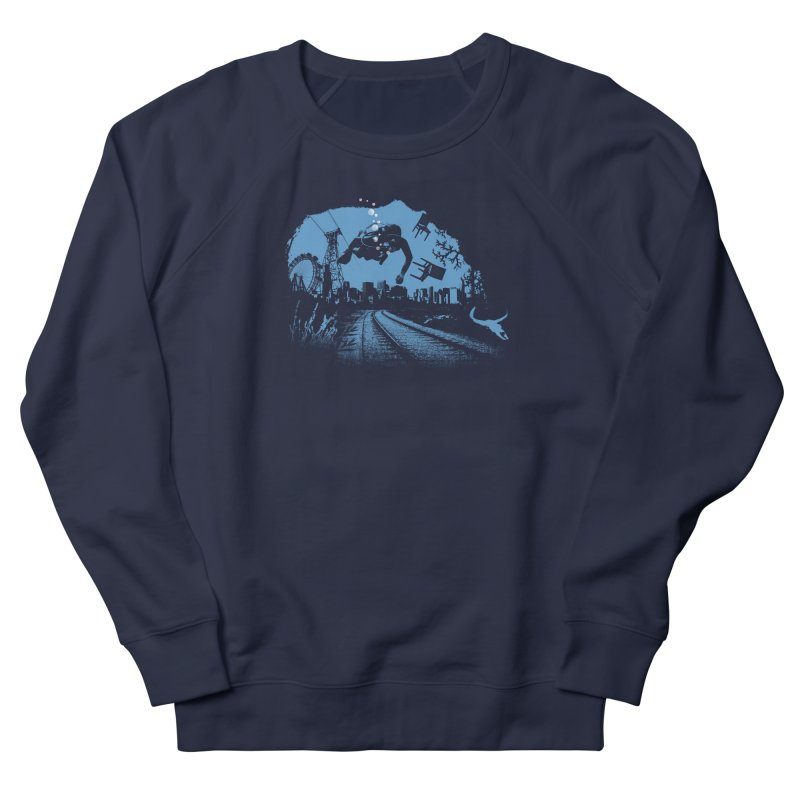 global warming paradise Women's French Terry Sweatshirt by sustici's Artist Shop