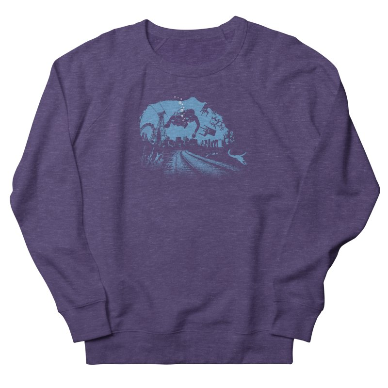 global warming paradise Men's French Terry Sweatshirt by sustici's Artist Shop